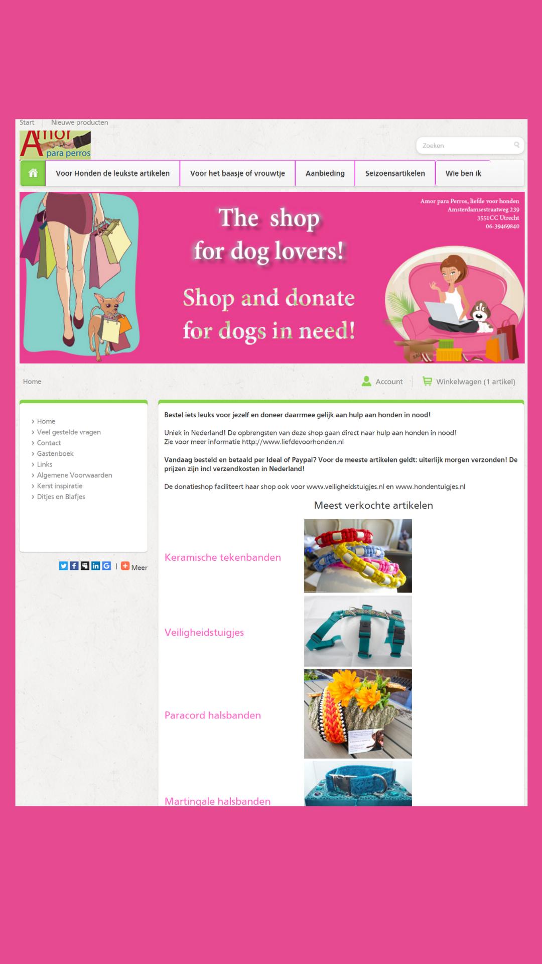 link naar de webwinkel donatieshop